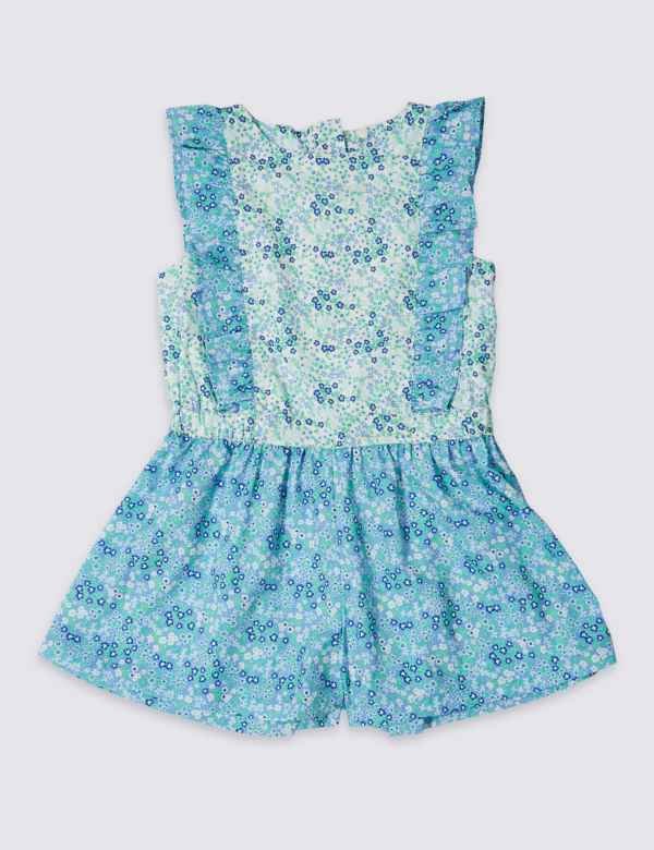 4a97b3223829 Ditsy Print Playsuit (3 Months - 7 Years)