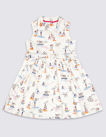 Pure Cotton Shirt Dress (3 Months - 7 Years)