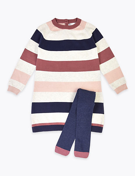 Pure Cotton 2 Piece Striped Outfit (3 Months - 7 Years)