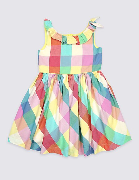 Tie Pure Cotton Dress (3 Months - 7 Years)