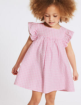 Checked Pure Cotton Dress (3 Months - 7 Years)