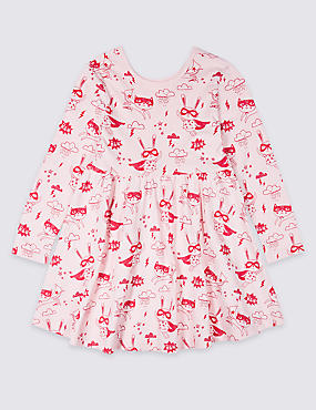 Pure Cotton Printed Dress (3 Months - 7 Years)