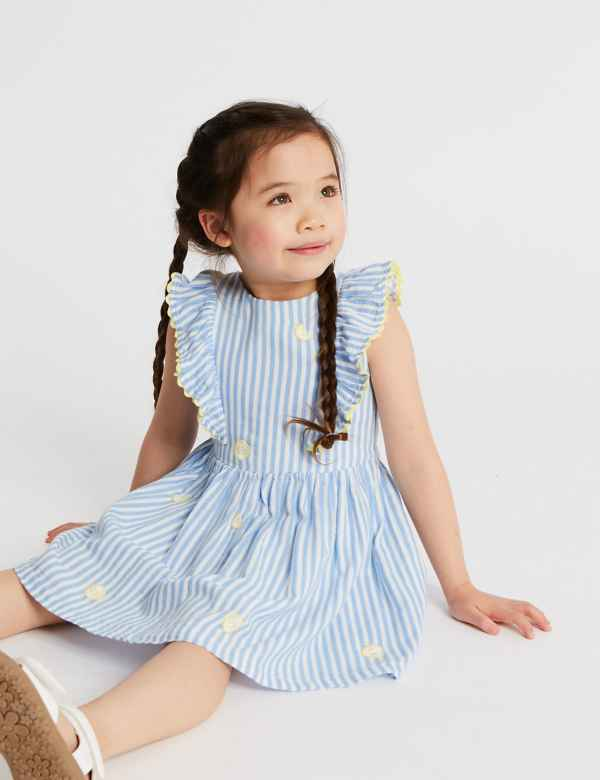 7d78119d98a Pure Cotton Striped Dress (3 Months - 7 Years). New Lower Price