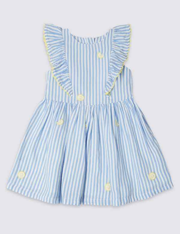 2346d0ab3f1 Pure Cotton Striped Dress (3 Months - 7 Years)