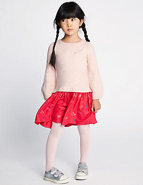 2 Piece Dress & Tights Outfit (3 Months - 7 Years)