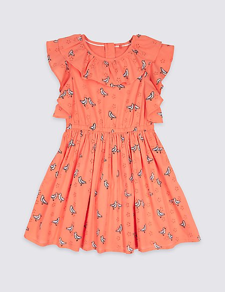 Pure Cotton Frill Dress (3 Months - 7 Years)