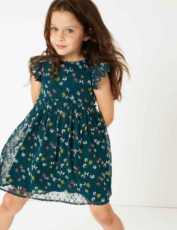 ad2a283371fc Butterfly Print Chiffon Dress (3 Months - 7 Years)