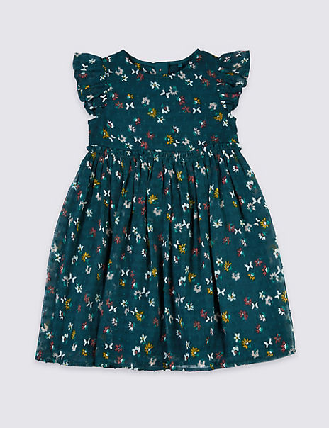 Butterfly Print Chiffon Dress (3 Months - 7 Years)