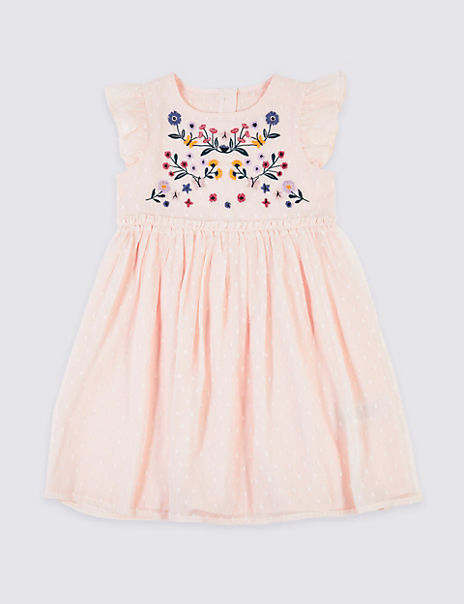 Embroidered Chiffon Dress (3 Months - 7 Years)