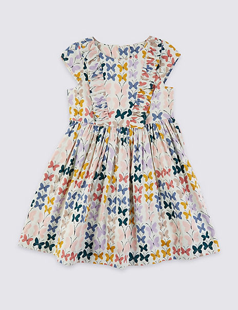Butterfly Print Dress (3 Months - 7 Years)