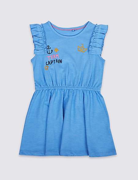 Cotton Rich Jersey Dress (3 Months - 7 Years)