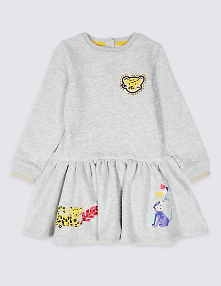 Cotton Rich Sweat Dress (3 Months - 7 Years)