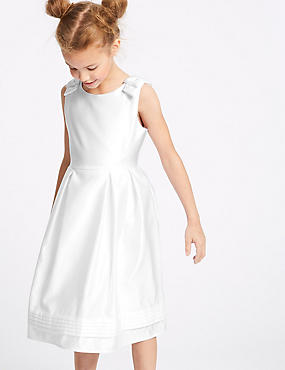 Satin Bow Dress (1-16 Years)