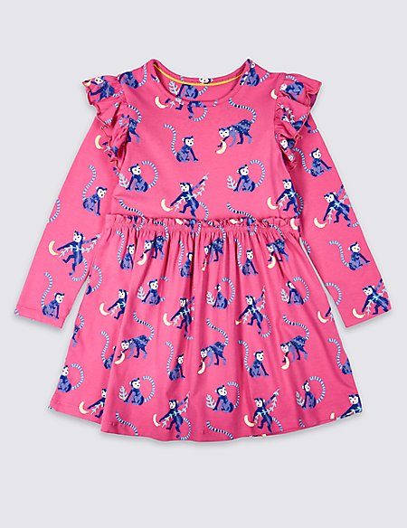 Cotton Dress with Stretch (3 Months - 7 Years)