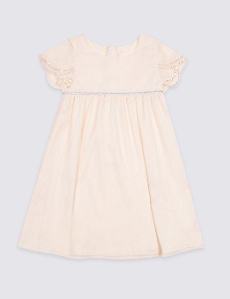 Chiffon Sequin Dress (1-7 Years)