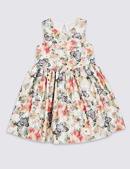 Cotton Blend Dress (3 Months - 7 Years)