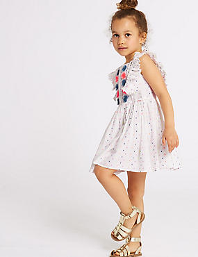 Pom-pom Spotted Dress (3 Months - 7 Years)