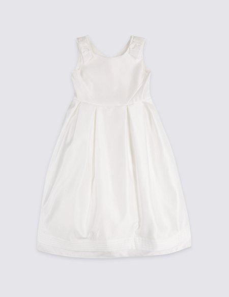 Longer Length Satin Bow Dress (1-16 Years)
