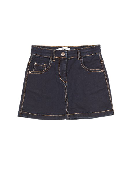 Cotton Rich with Stretch 5 Pockets Denim Skirt (1-7 Years)