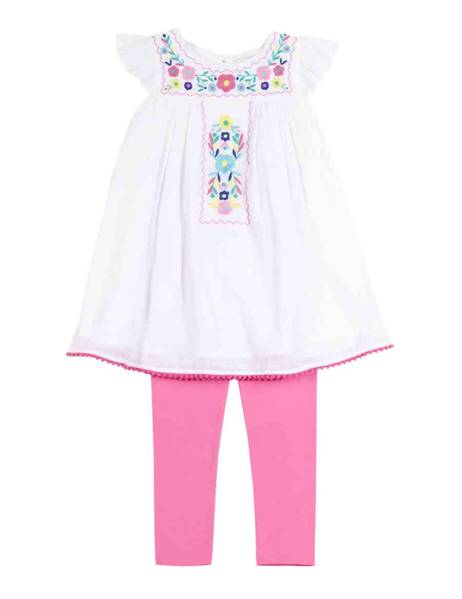 42bc00ded02 2 Piece Cotton Rich Tunic & Leggings Outfit (1-7 Years)   M&S