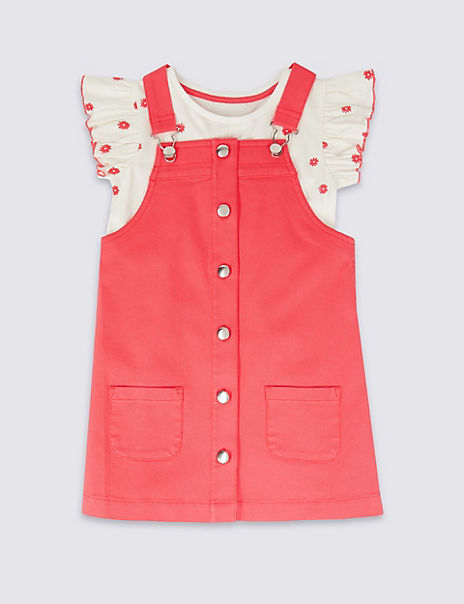 2 Piece Pinafore & Top Outfit (3 Months - 7 Years)