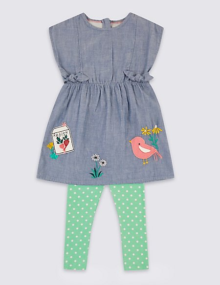 2 Piece Dress with Leggings Outfit (3 Months - 7 Years)