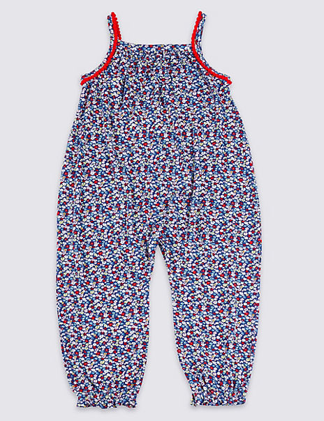 Ditsy Print Jumpsuit (3 Months - 7 Years)