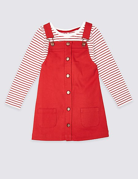 2 Piece Pinny & T-Shirt Outfit (3 Months - 7 Years)