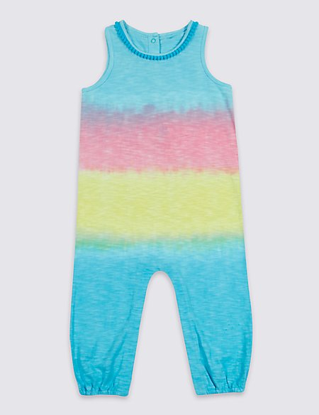 Tie Dye Pure Cotton Jumpsuit (3 Months - 7 Years)