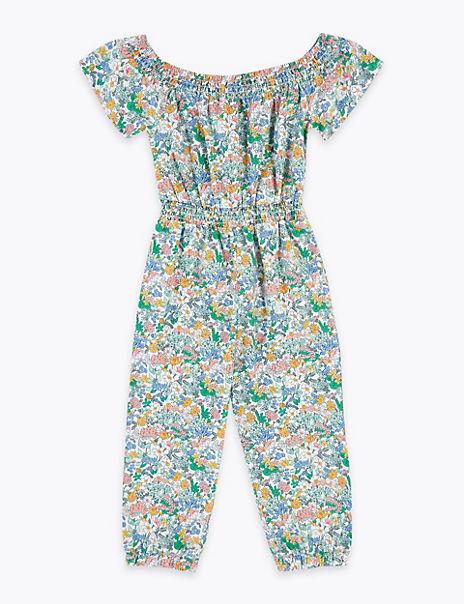 Cotton Floral Print Jumpsuit (2-7 Years)