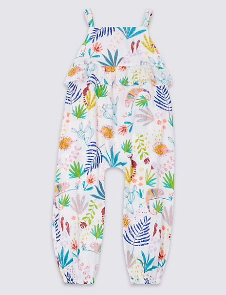 Pure Cotton Printed Jumpsuit (3 Months - 7 Years)