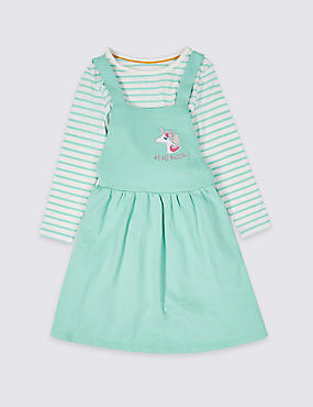 2 Piece Top & Pinny Outfit (3 Months - 7 Years)