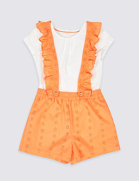 2 Piece Top & Pinafore Outfit (3 Months - 7 Years)
