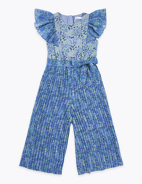 Floral Pleated Jumpsuit (2-7 Years)