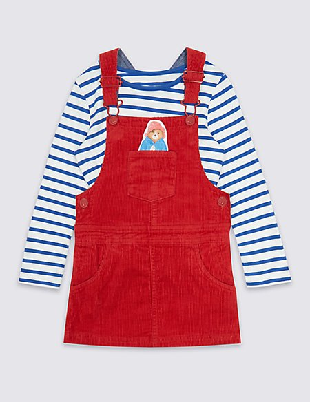 Paddington™ Striped Top & Pinafore Outfit (3 Months - 6 Years)