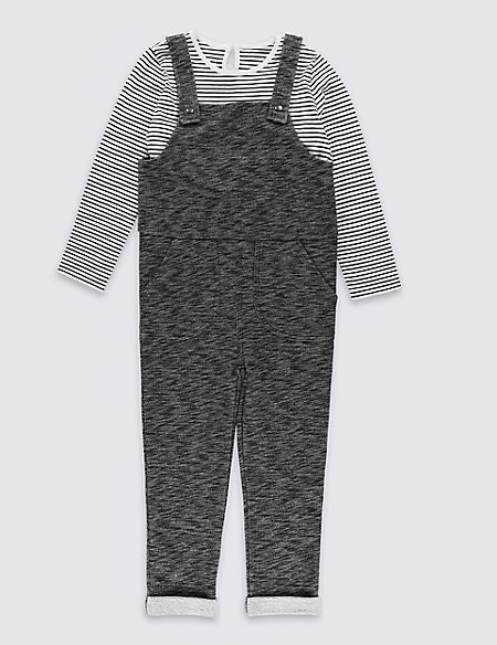 2 Piece Jersey Dungarees Playsuit (1-7 Years)