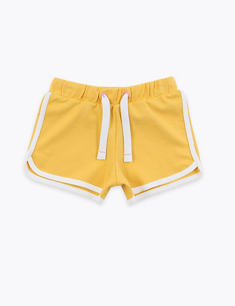 Regular Cotton Rich Plain Shorts (2-7 Years)