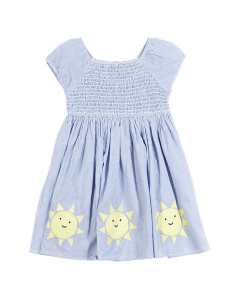 Pure Cotton Smocked Dress (1-7 Years)