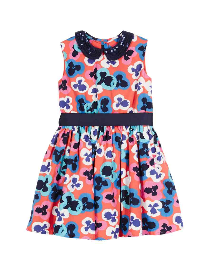 67dd40a6612 Pure Cotton Floral Prom Dress (1-7 Years)