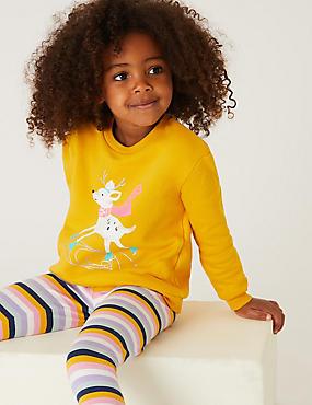 Cotton Deer Print Sweatshirt (2-7 Yrs)