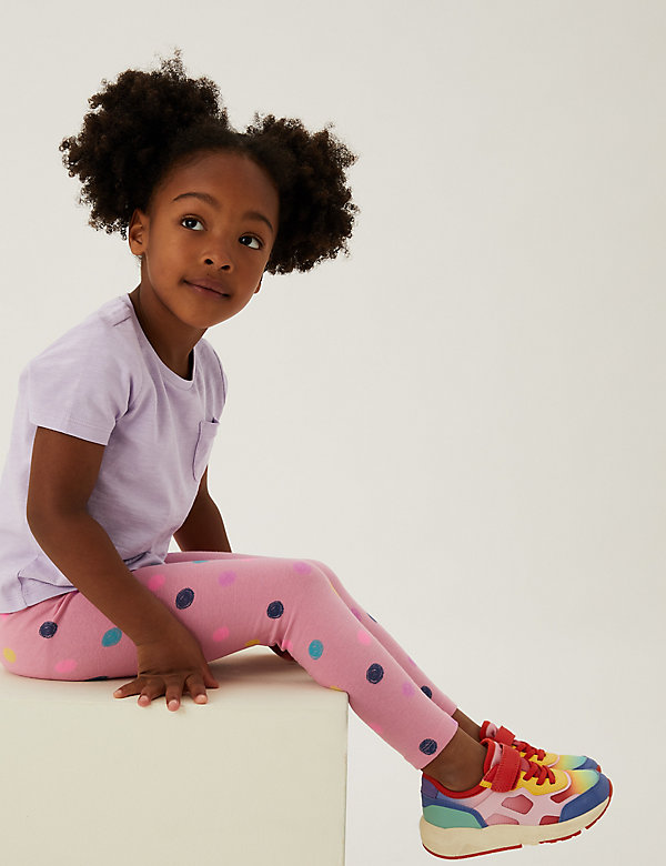 Cotton Spotted Leggings (2-7 Yrs)