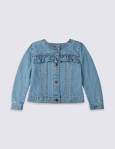Frill Denim Jacket (3 Months - 7 Years)