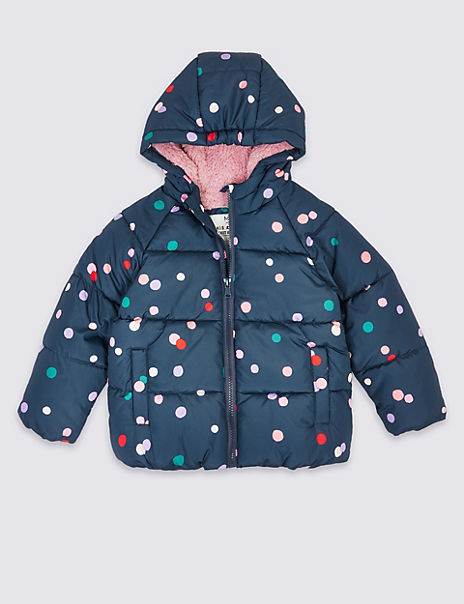 Stormwear™ Padded Spot Print Coat (3 Months - 7 Years)