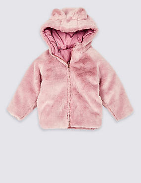 Reversible Faux Fur Coat (3 Months - 7 Years)