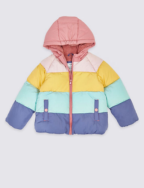 Rainbow Puffa Coat (3 Months - 7 Years)