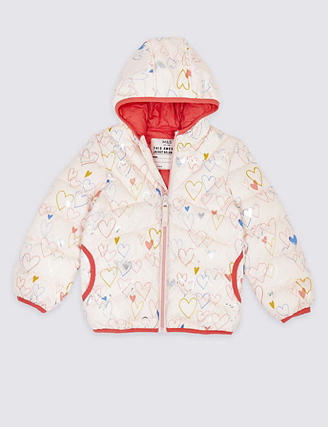 Polka Dot Print Lightweight Padded Coat (3 Months - 7 Years)