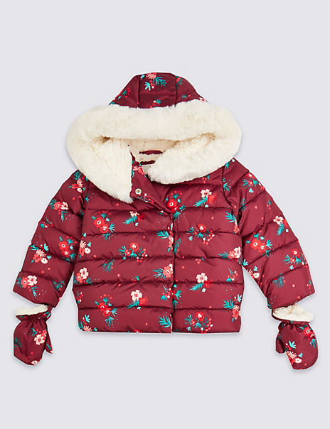 Floral Padded Coat (3 Months- 7 Years)