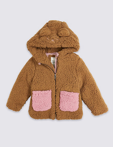 Borg Teddy Jacket (3 Months - 7 Years)