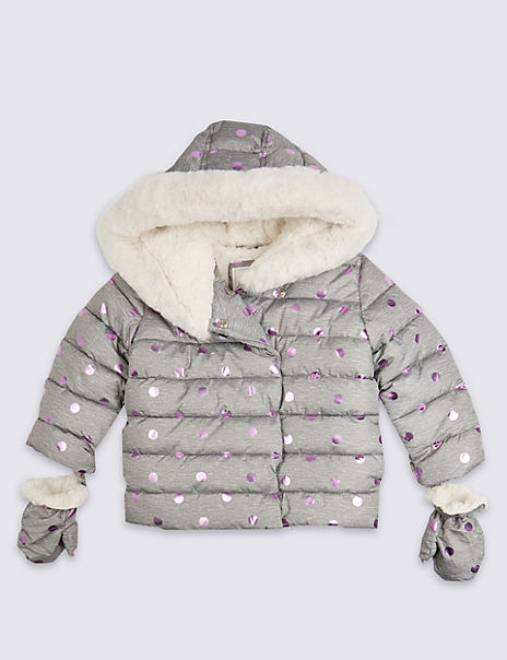 Spot Print Padded Coat (3 Months - 7 Years)