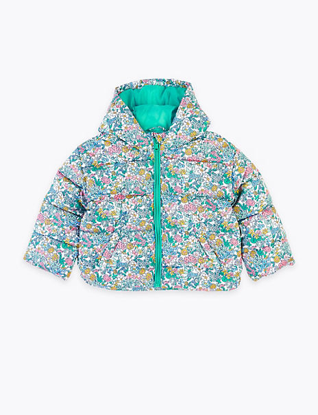 Lightweight Floral Padded Coat (2-7 Years)